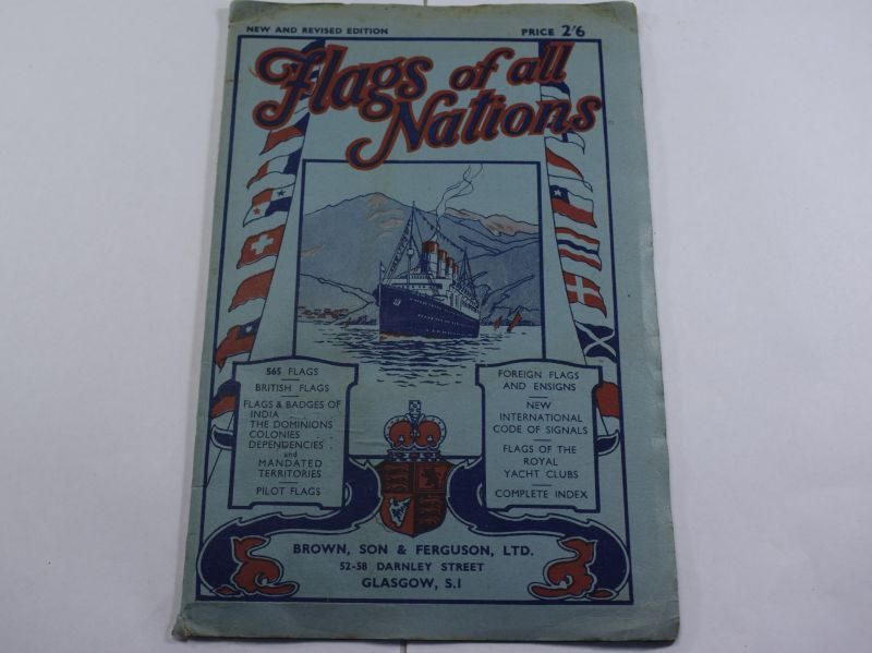 Large 1930s Fold Out Poster Flags of All Nations