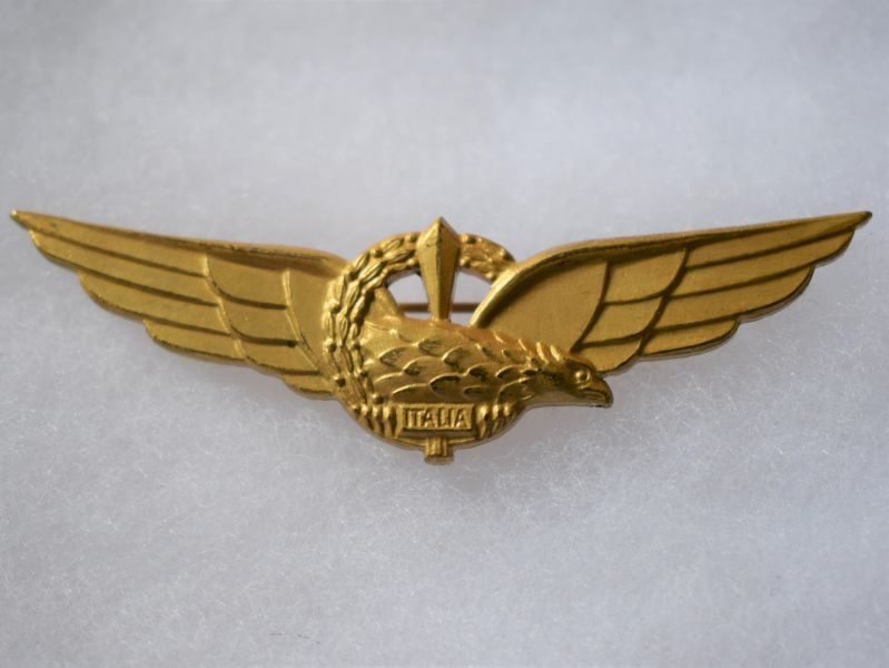 N) Lovely Original Short Lived WW2 Italian Air Force Pilots Wing Italia