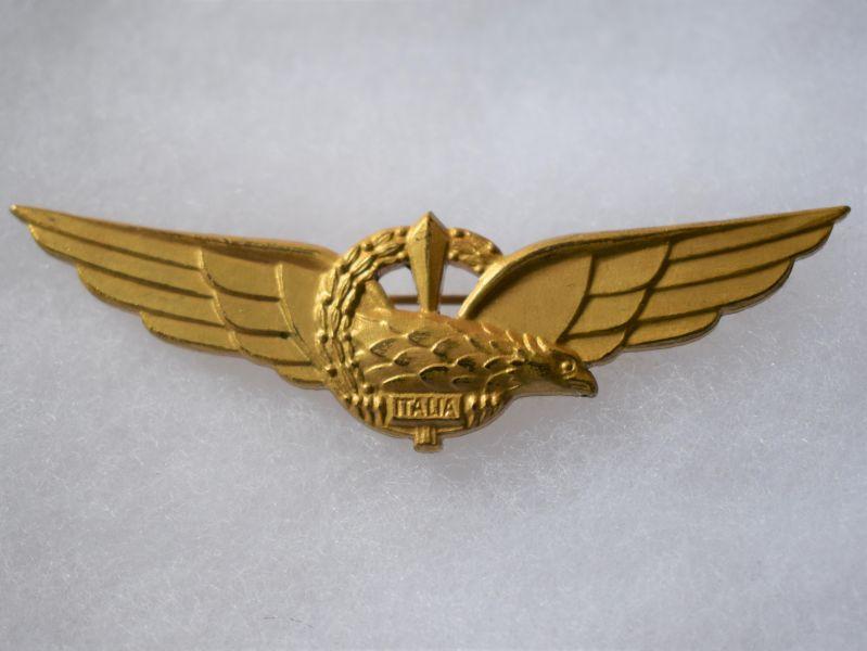N) Lovely Original Short Lived WW2 Italian Air Force Pilots Wing Italia