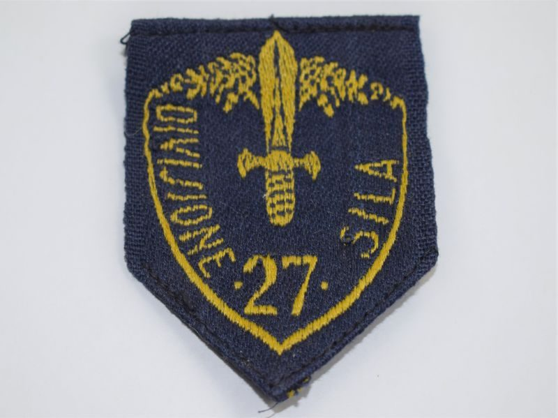 36) Original WW2 Italian 27th Division Sila Cloth Badge