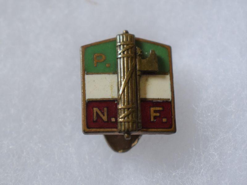 W) Small Original 1930s-WW2 Fascist Italian PNF Lapel Badge Partito Nazionale Fascista