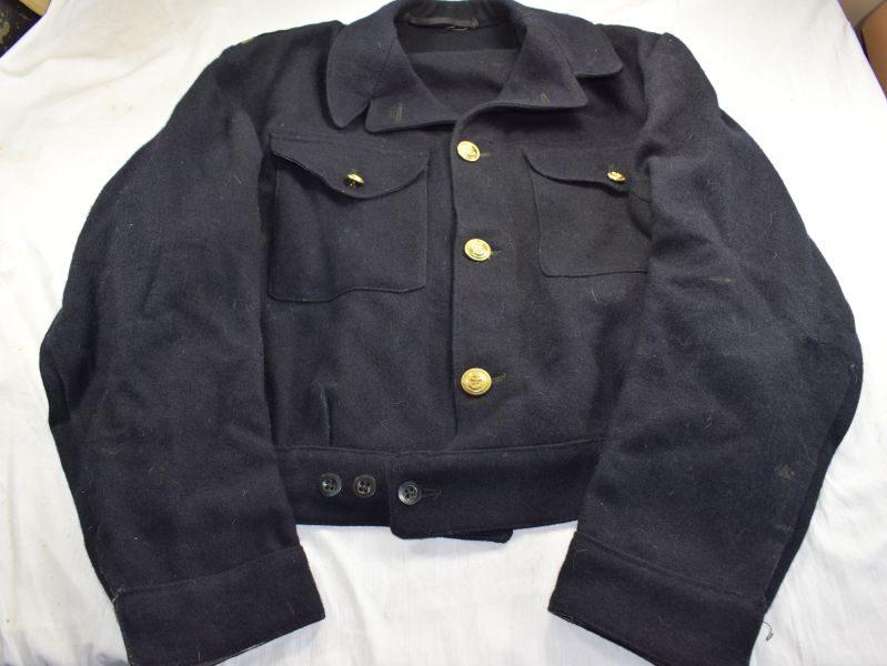 88) Excellent WW2 Royal Navy Officers Working Dress Battledress Blouse 1944