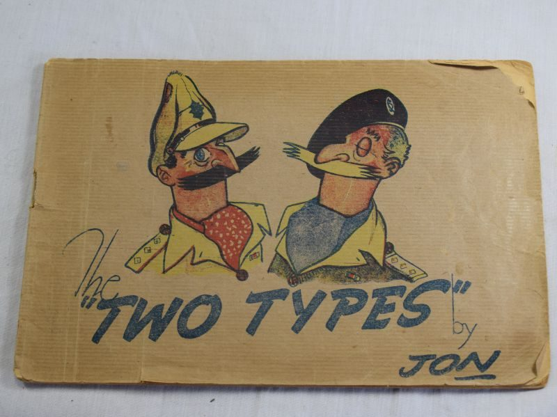 Original late WW2 British Military Comic Book The Two Types by Jon