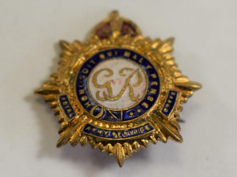 82) WW2 Royal Army Service Corps Sweetheart Brooch.