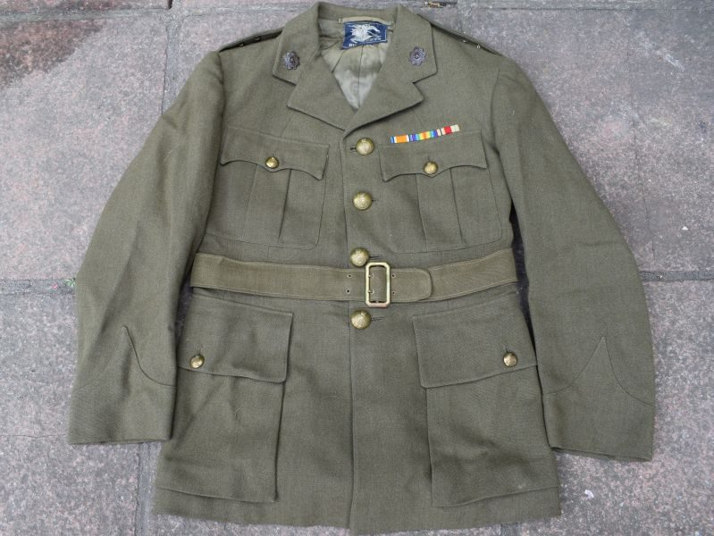 89) Excellent WW2 RASC Officers Service Dress Uniform By Burberry's Dated 1940