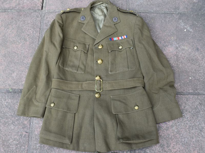 90) Excellent WW2 RASC Officers Service Dress Uniform Jacket & Trousers