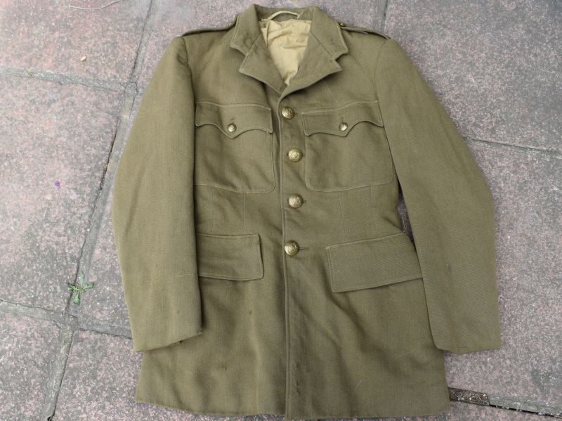 92) WW2 Royal Engineers Officers Service Dress Jacket 2nd Lt Nichools