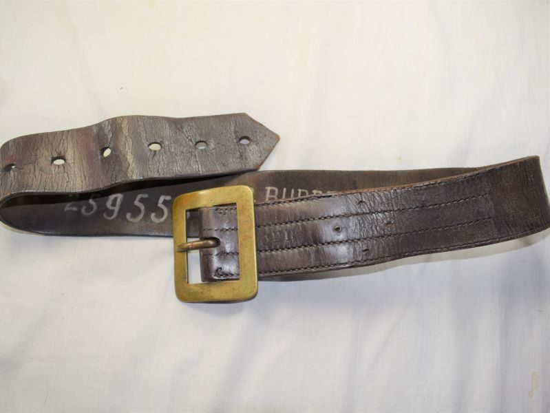 Excellent 1930s-WW2 Glamorgan County Fire Brigade Leather Waist Belt