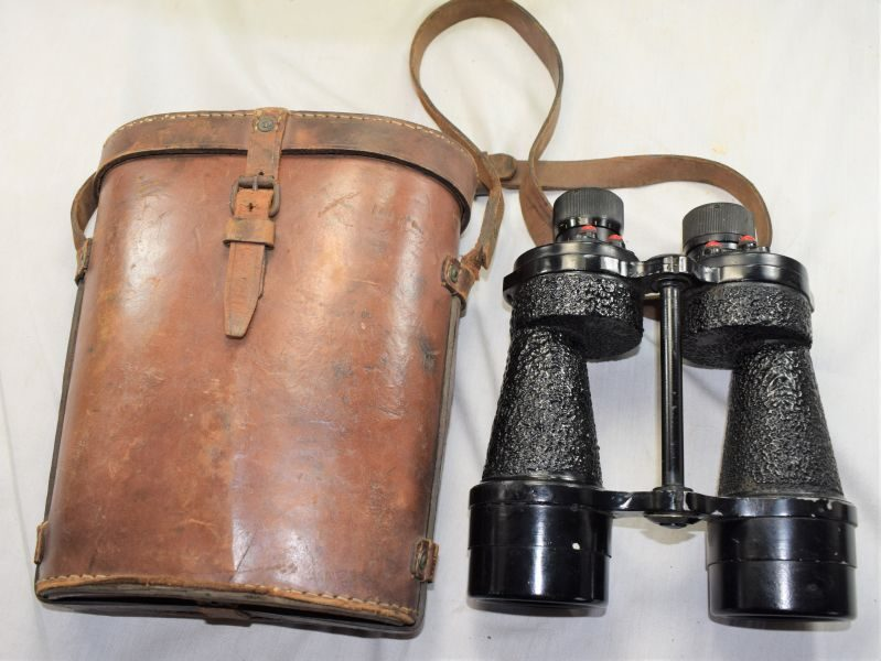 F) Excellent WW2 British Army Issue Binoculars Prismatic No5 & Case 1943