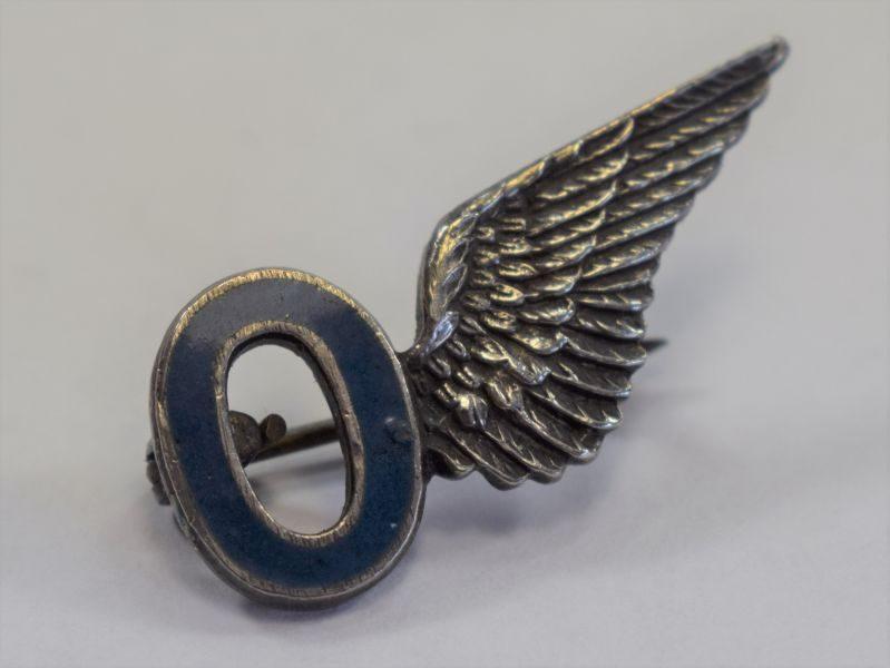 9) Very Nice Original WW2 RAF Observers Silver & Enamel Sweetheart Brooch