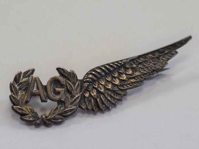 10) Very Nice WW2 RAF Air Gunners Pin Back Sweetheart Brooch
