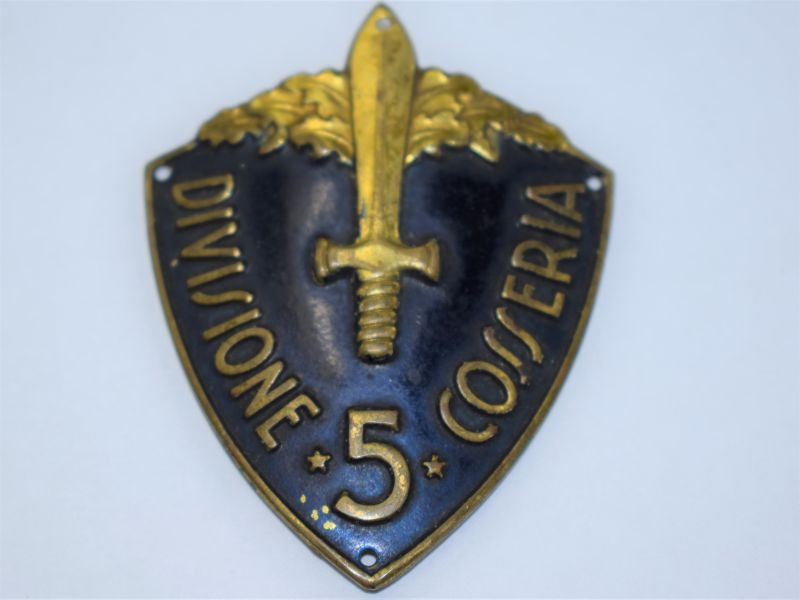 98 Original WW2 Italian Arm Shield 5th Divisione Cosseria