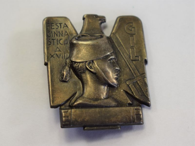 99) Original 1930s-WW2 Italian GIL Youth Badge