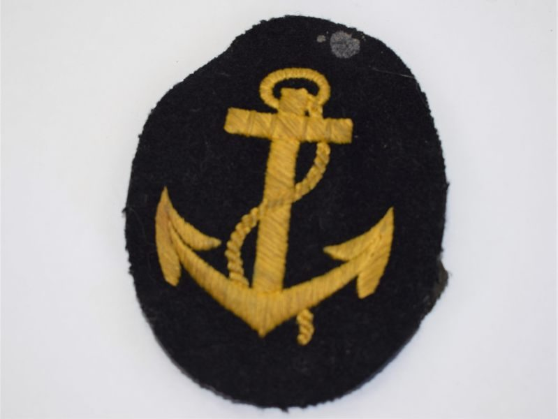 14) Excellent Original WW2 German Navy Anchor Sleeve Badge