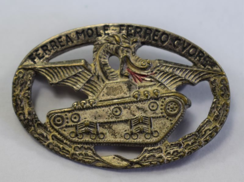 Nice Original WW2 Italian Tank Crew Pin Badge