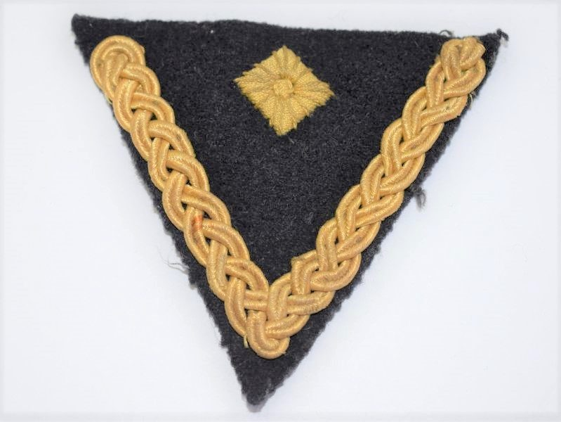 15] Original WW2 German Navy Ornate Rank Chevron & Pip Cloth Badge