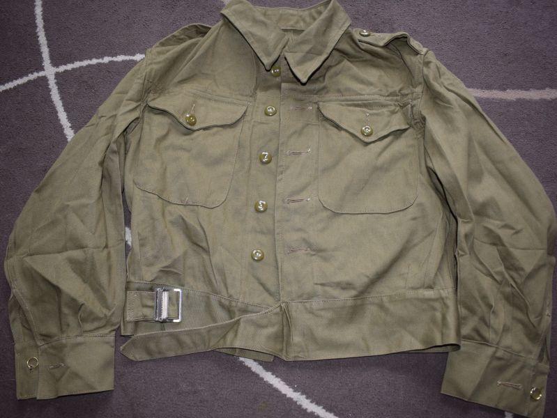 Mint Unissued British Army Denim BD Blouse Dated 1944