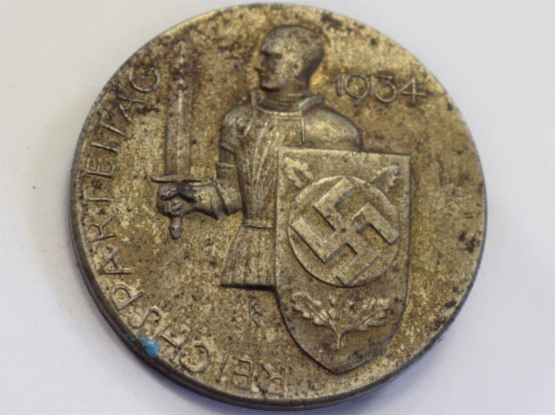 19) Excellent 1930s German Reichsparteitag 1934 Nazi Day Badge