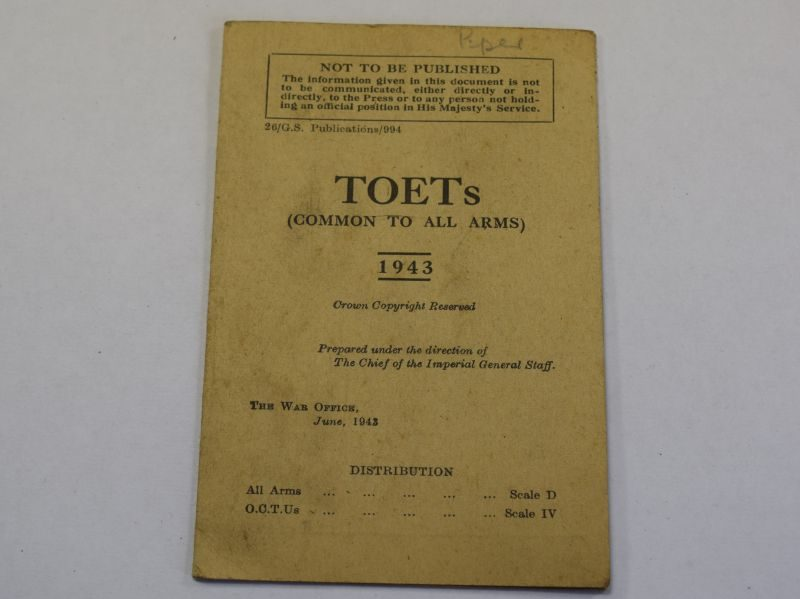 107) Original Small WW2 TOETs Fold Out Booklet 1943