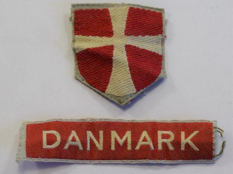 22) Good Original Late WW2 Danish Army Cloth Insignia
