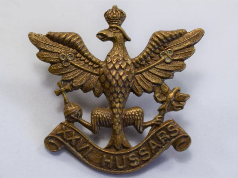 31) Original Cap Badge to Short Lived 26th Hussars 1941-43