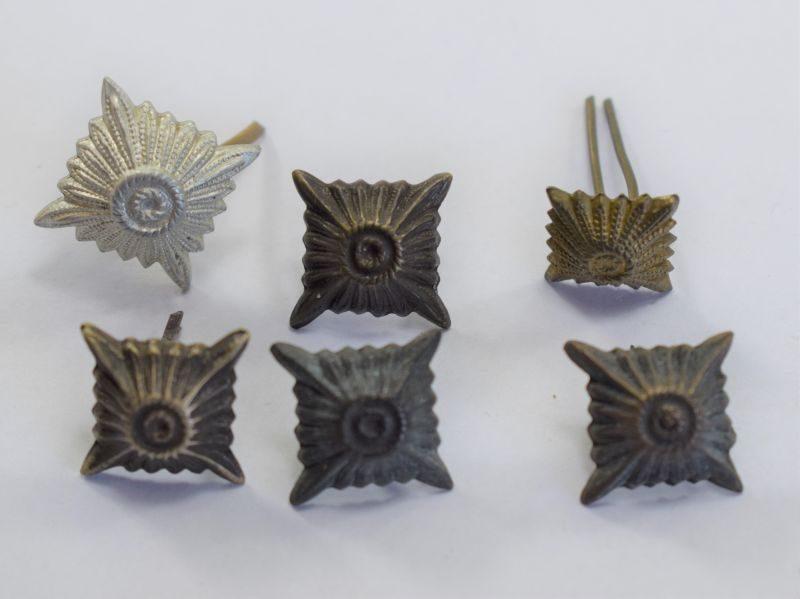34) Original Set of 6 WW2 German Army Rank Pips
