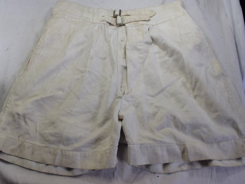 Original WW2 Royal Navy White Tropical Issue Shorts
