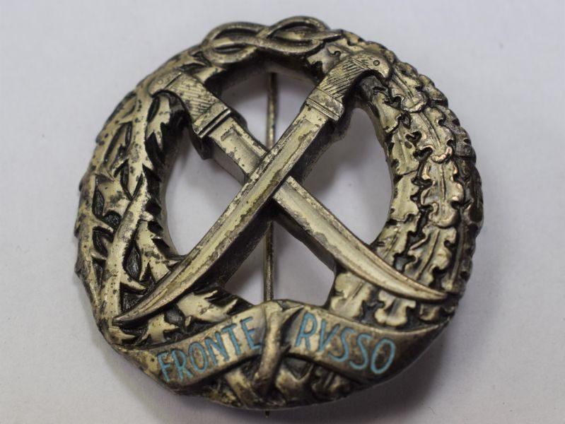 115) Original WW2 Italian Russian Front Award Badge
