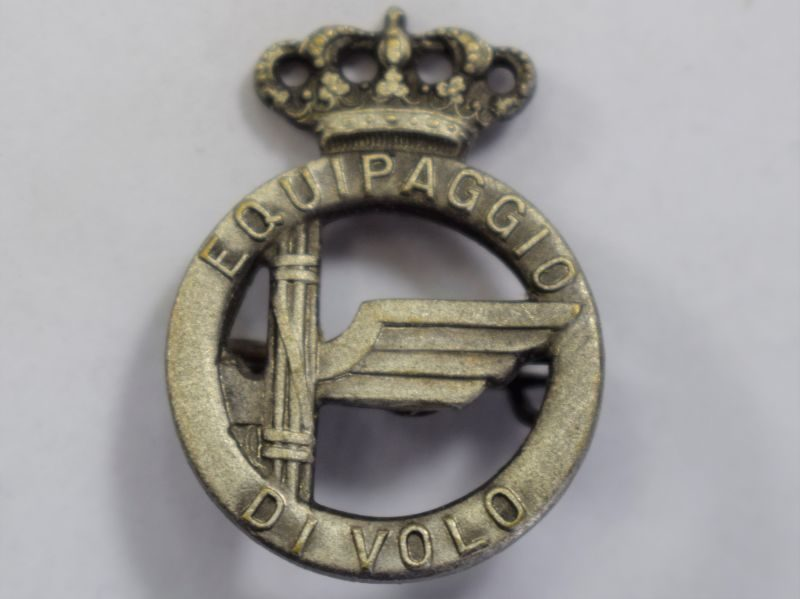 118) Nice Original WW2 Italian Air Force Badge Equipaggio Di Volo