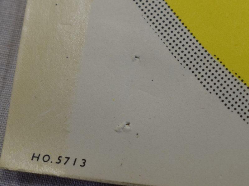 Original WW2-1950s? Civil Defence Warden Lives Here Window Sticker
