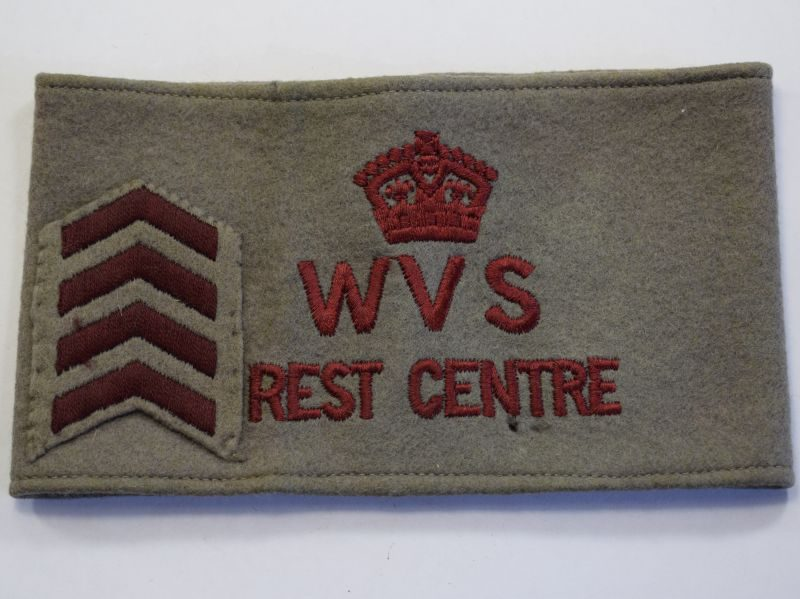 40) Original WW2 WVS Rest Centre Woman's Armlet & Service Chevrons