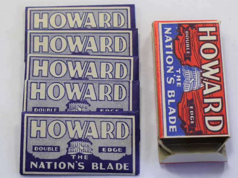 Original Card Packet Of 5 WW2 US Military Issue Howard Razor Blades