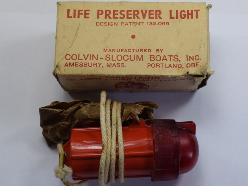 Original WW2 US Military Issue Life Preserver Light in Original Packaging