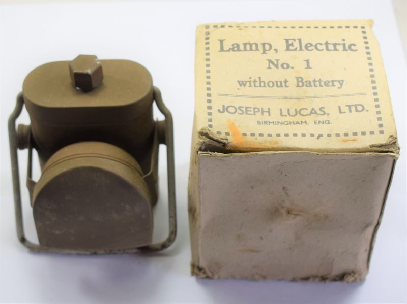 Unissued WW2 British Military Lamp Electric No1 & Issue Box