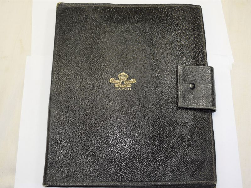 An excellent Early Post War British Commonwealth Forces Japan Officers Documents Wallet