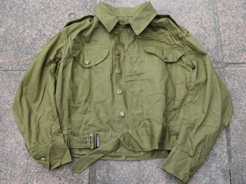 Mint Unissued British Army Denim BD Blouse Dated 1944