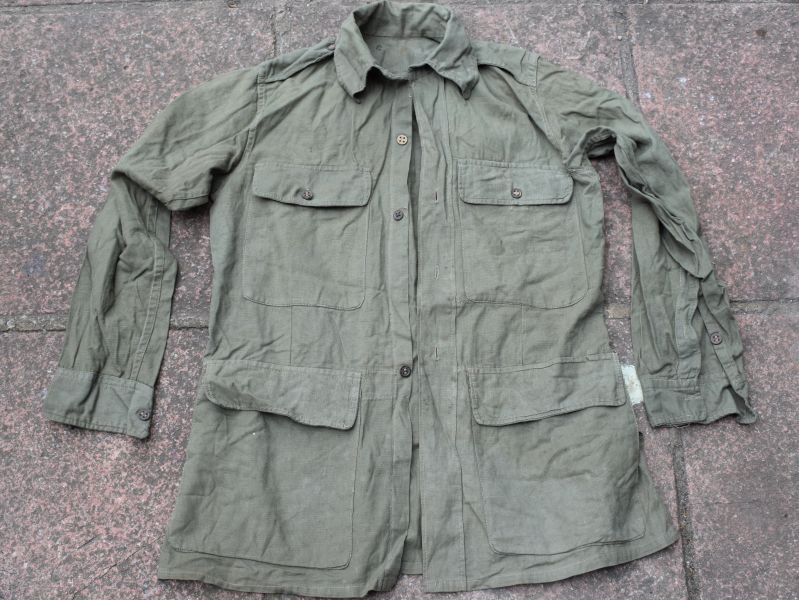 Excellent Original WW2 Indian Made Jungle Green Bush Jacket 1945