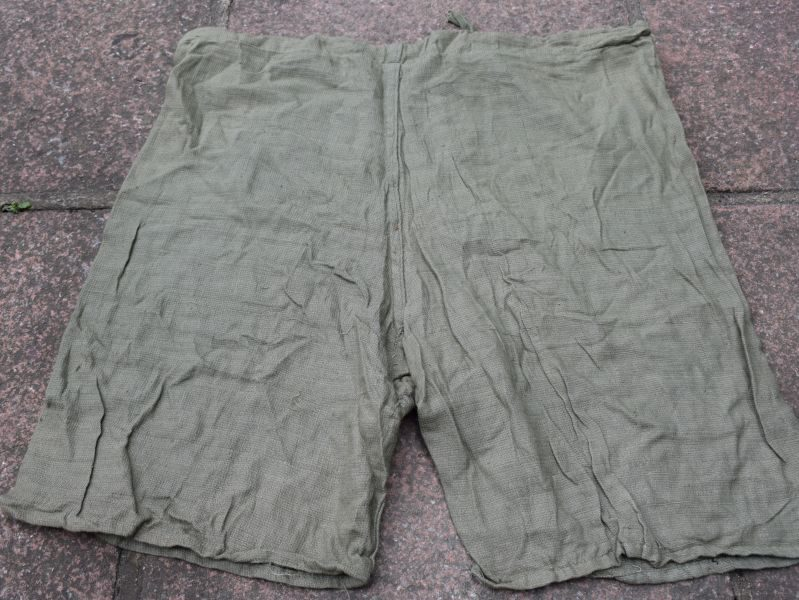 54) Original WW2 Indian Made Jungle Green Aertex Boxer Shorts