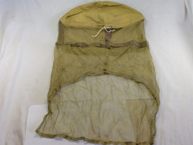 WW2 British Army Tropical Issue Anti Mosquito Helmet Face Net 1944