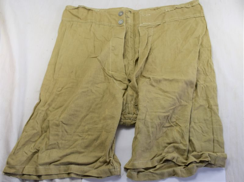 55) WW2 Indian Made British Army Khaki Cotton Boxer Shorts 1943