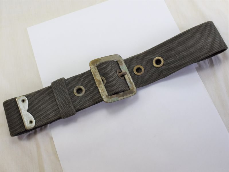 WW2 British AFS NFS Fireman's Heavy Duty Black Canvas Waist belt