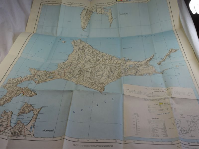 C) WW2 US Army Issue Map of Northern Japan 1945