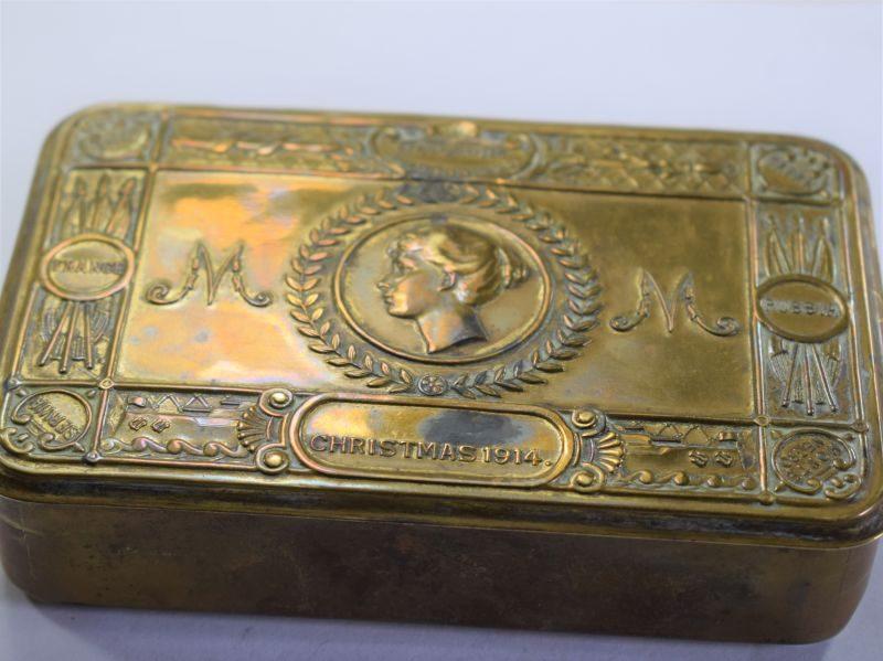 Nice Clean Original WW1 Princess Mary Christmas Fund Gift Tin 1914