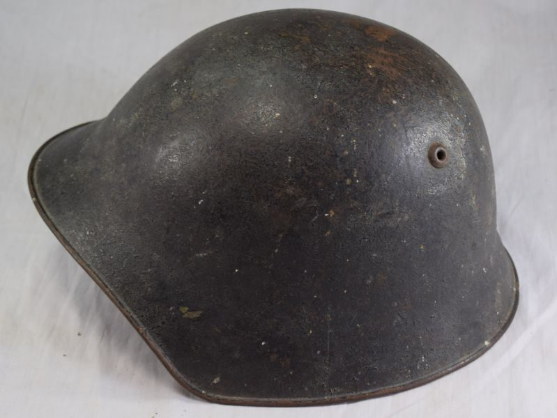 Vintage Swiss Army Issue M1918 Steel Helmet