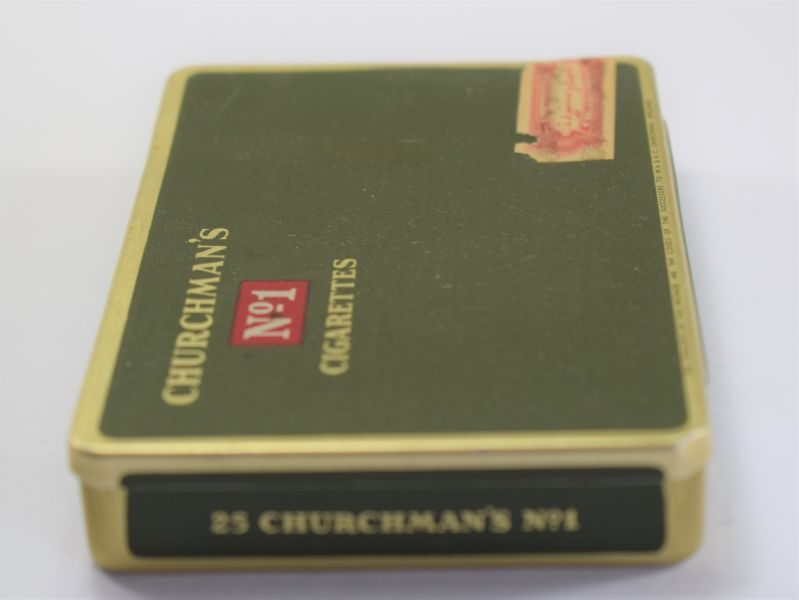 Unusual Vintage Churchman's No1 Cigarettes Tin Specially Imported For Iraq