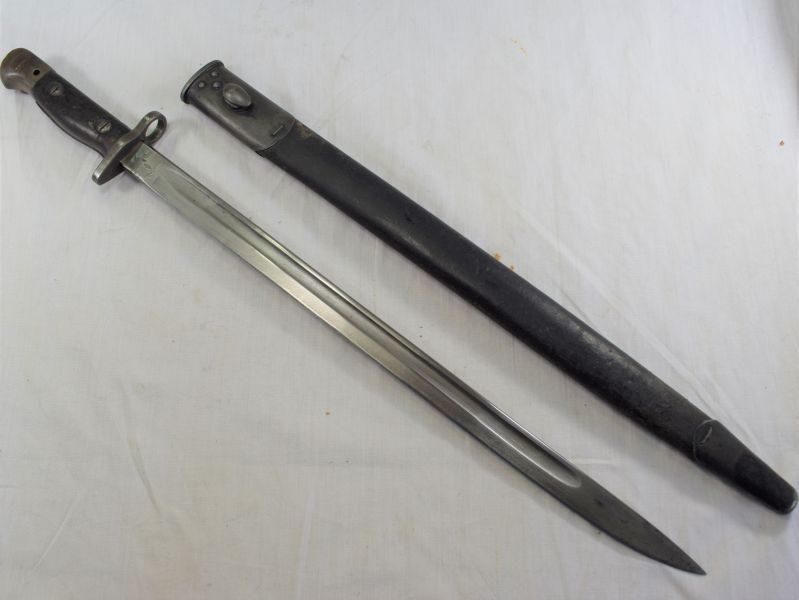 Excellent Clean WW1 British Army 1907 Pat Bayonet Marked Wilkinson 1918