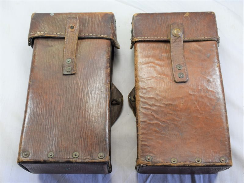 Original Unmodified 1939 Pattern Leather Equipment's Ammo Pouches