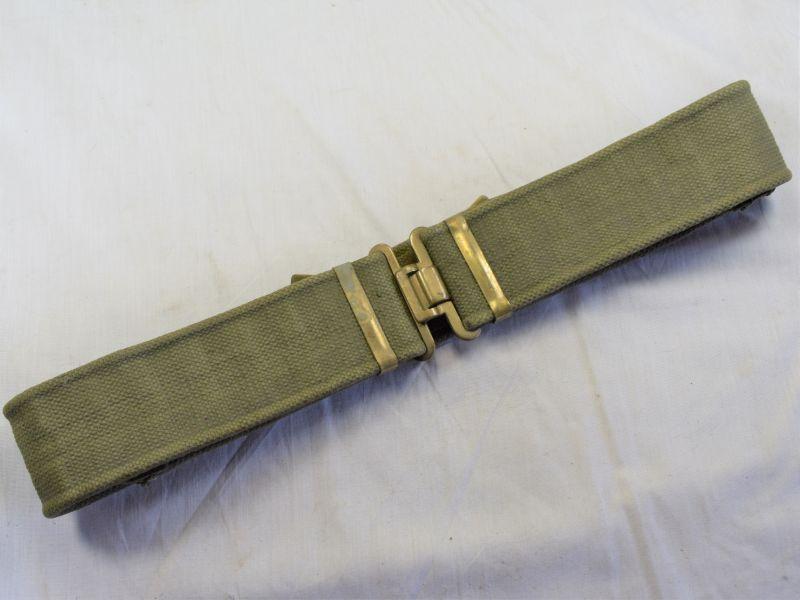 58) Good Original WW2 British Army 1937 Pattern Webbing Waist Belt Economy Pattern