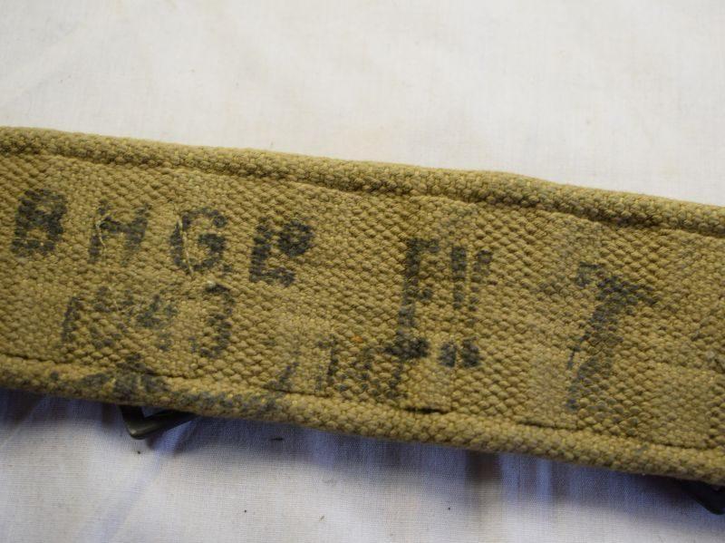 59) Good Clean WW2 British Army 1937 Pattern Webbing Waist