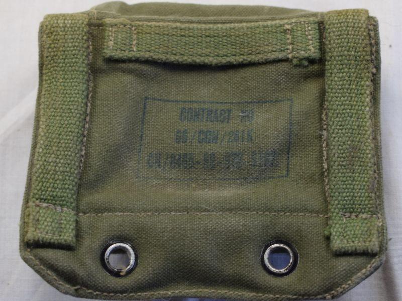 60) Unusual Post War 1944 Pattern Webbing Compass Case